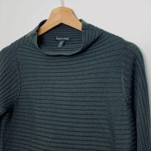 Eileen Fisher   100% Merino Wool Green Sweater XXS